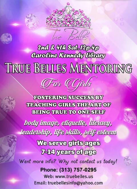 True Belles mentoring info flyer