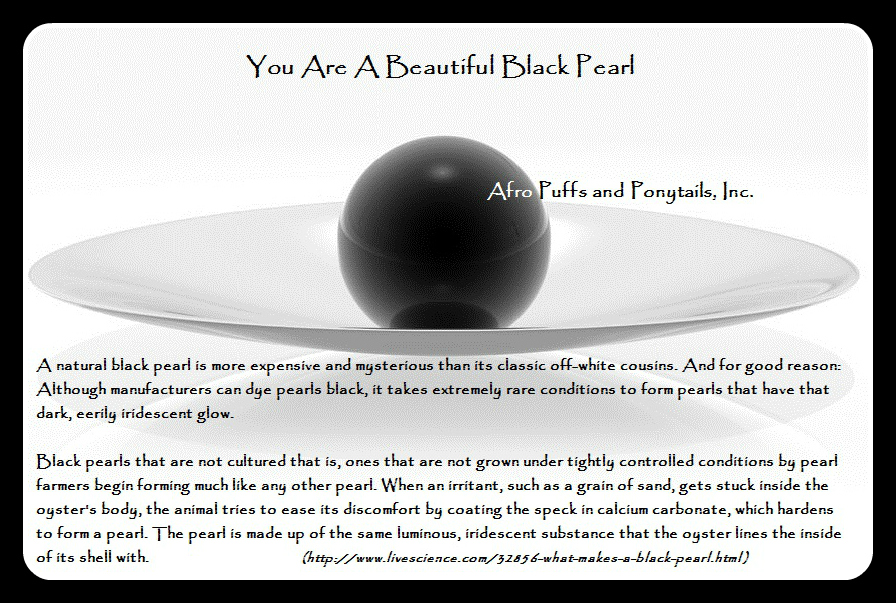 You Are A Beautiful Black Pearl 1