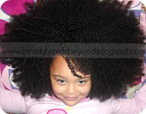 natural hair care for biracial african american children